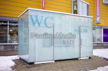 futuristic design public convenience toilet in