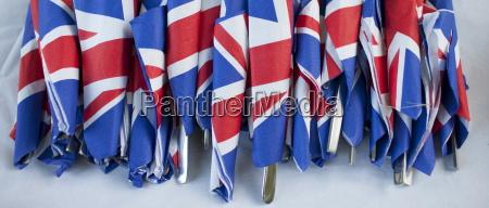 union jack flags on napkins as