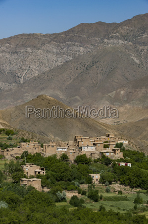 a village and terraced fields of