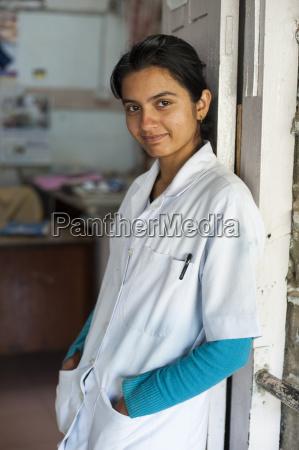 a nurse at gorkha district hospital