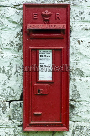wall mounted postbox with e r