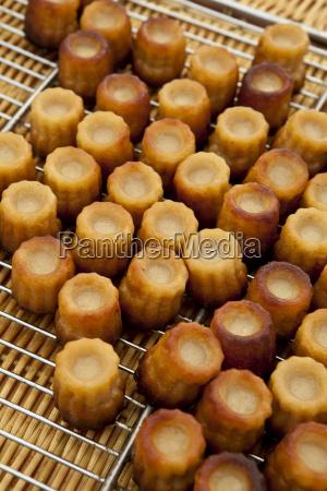 freshly baked french bordeaux speciality canele