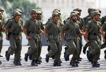 military parade of armed forces in
