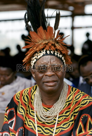 local chief at cultural festival in