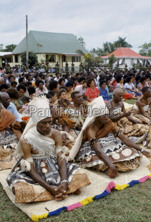 fijian chiefs at tribal gathering cultural