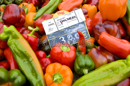 local produce red peppers green pepper