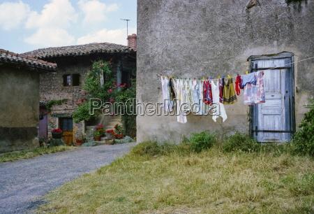 domestic scene of laundry on washing