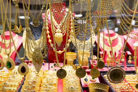 gold jewelry necklaces and bracelets in
