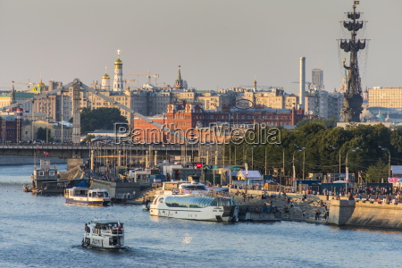 view over city and the moskva