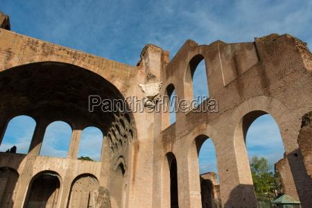basilica of maxentius roman forum unesco