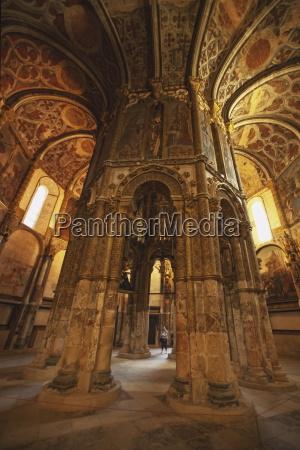 the decorated sanctuary of convento de