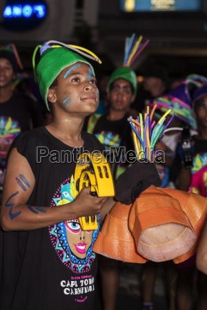 teen boys in cape carnival parade