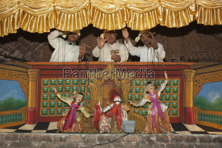 traditional puppet show at the nanda