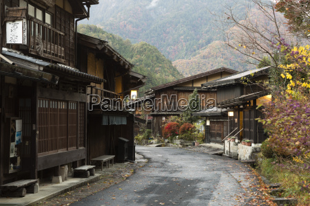 wooden houses of old post town