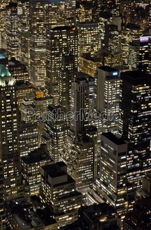 view from empire state building at