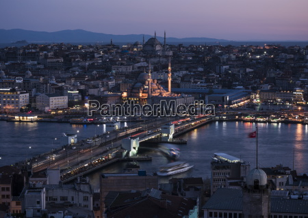 view over istanbul skyline from the