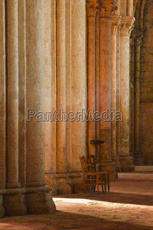 solitude inside saint pierre church abbey