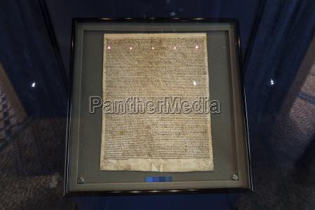 magna carta in salisbury cathedral salisbury