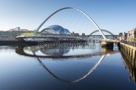 day view of gateshead millennium bridge