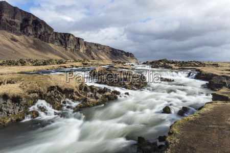 wide angle view of river at