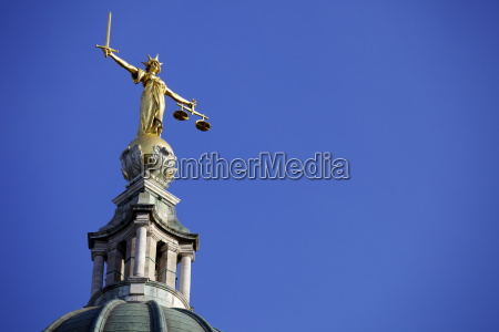 scales of justice above the old