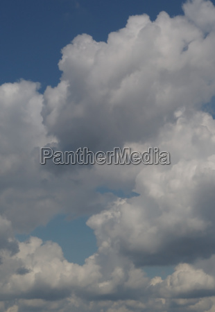 cumulus clouds on a summer day