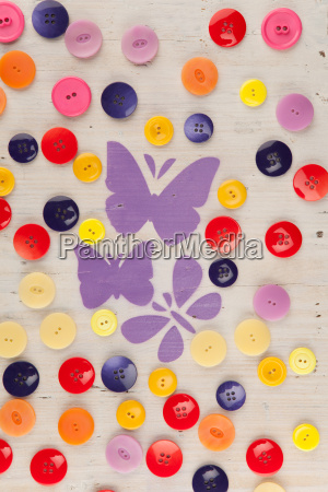 painted butterflies in a meadow of