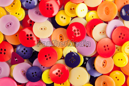 a bunch of colorful buttons viewed