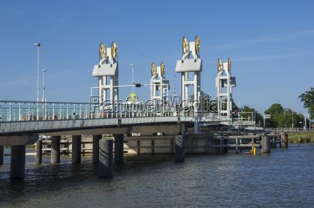 ijssel brucke town bridge kampen holland