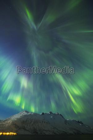 a coronal burst of aurora borealis
