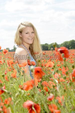 woman in the poppy field