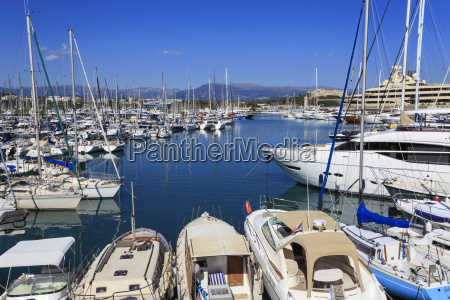 vieux port with many yachts view