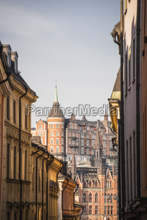 view of mariaberget from gamla stan