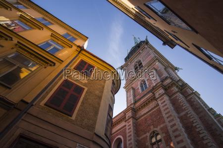 historic buildings in gamla stan stockholm