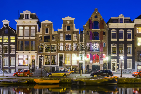 canal houses on the prinsengracht canal
