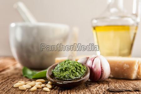 homemade pesto wild garlic with all