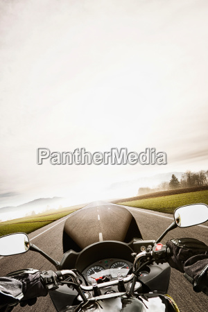 motorcycling from the perspective of the