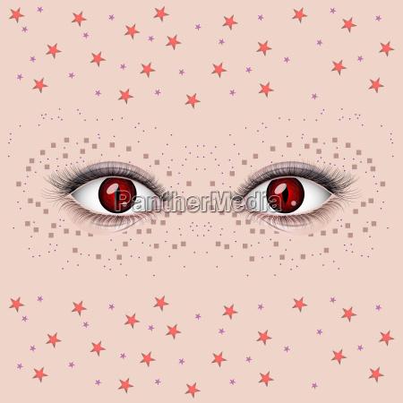 beautiful female eyes