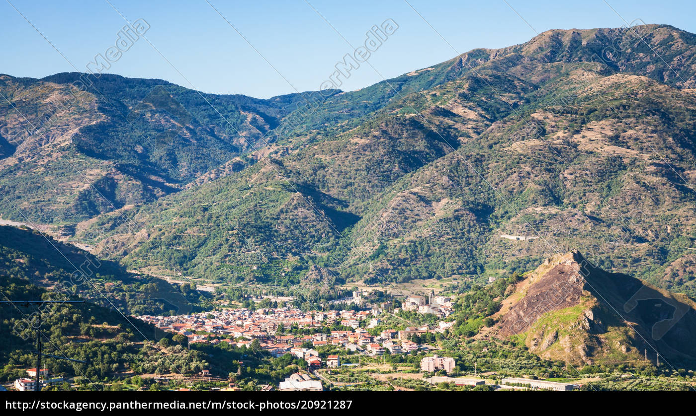 Above View Of Francavilla Di Sicilia Town Stock Photo 20921287 Panthermedia Stock Agency