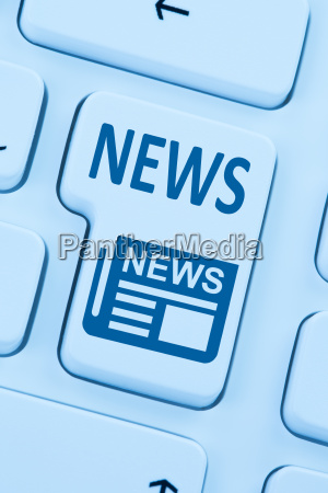 online newspaper news computer blue web