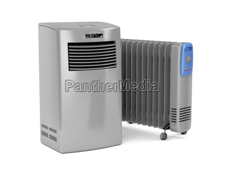 portable air conditioner and oil filled