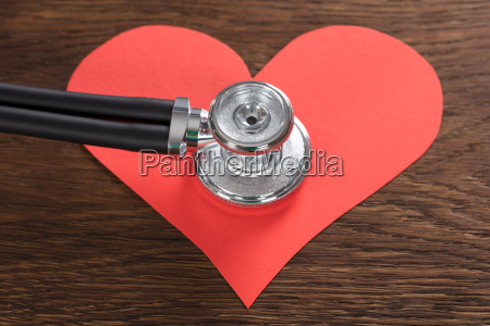 red, heart, with, stethoscope - 21039397