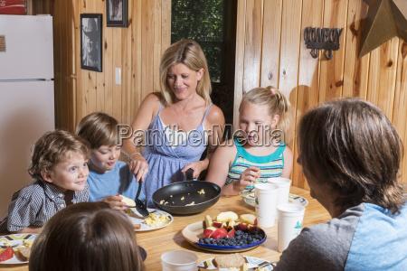 usa texas family having breakfast