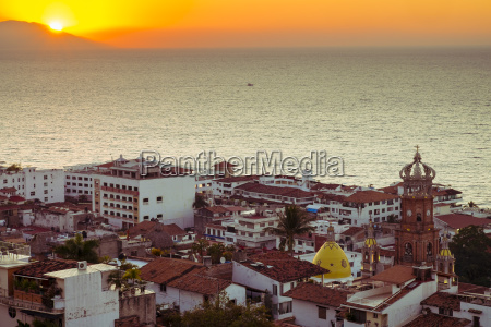 mexico puerto vallarta banderas bay at
