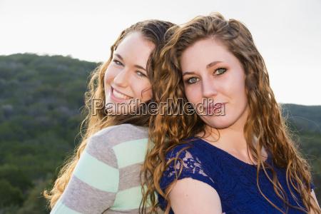 usa texas sisters smiling portrait