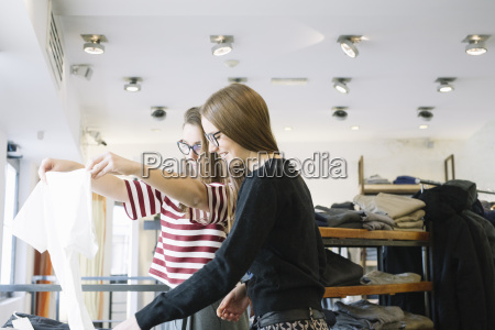 two young women in a fashion