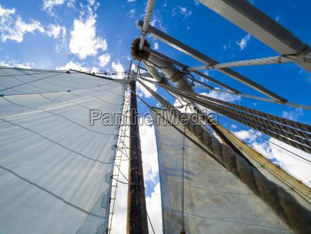 mast of a historical sailing ship