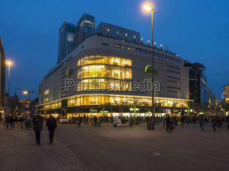 germany hesse frankfurt department store at