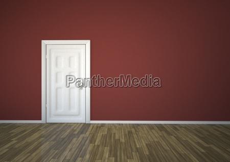 illustration of closed door