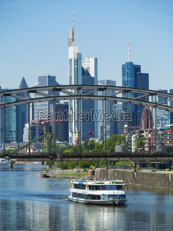 germany hesse frankfurt deutschherrn bridge excursion